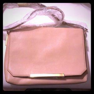 JCrew Blush leather crossbody bag